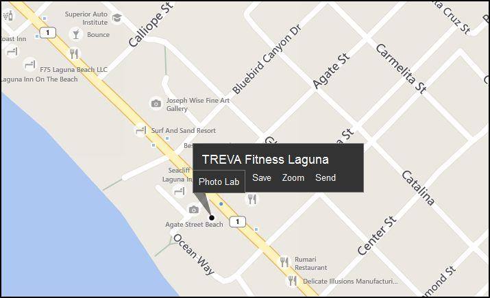 Treva Fitness Map